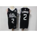 NBA Los Angeles Clippers #2 Kawhi Leonard Black 2021 City Edition Nike Swingman Jersey