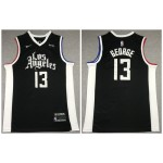 Los Angeles Clippers #13 Paul George Black 2021 City Edition Nike Swingman Jersey