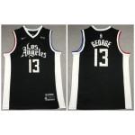Los Angeles Clippers #13 Paul George Black 2021 City Edition Nike Swingman Jersey