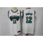 Grizzly Morant #12 New White Retro Fan Edition jersey