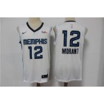 Men's Memphis Grizzlies #12 Ja Morant White 2020-21 Nike Swingman Jersey