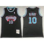 Vancouver Grizzlies #10 Mike Bibby 1998-99 Black Hardwood Classics Jersey