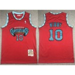 Vancouver Grizzlies #10 Mike Bibby 1998-99 Red Hardwood Classics Jersey