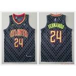 NBA Atlanta Hawks #24 Bruno Fernando Black Nike Jersey