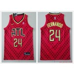 NBA Atlanta Hawks #24 Bruno Fernando Red Nike Jersey