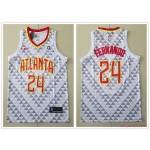 NBA Atlanta Hawks #24 Bruno Fernando White Nike Jersey