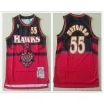 NBA Atlanta Hawks #55 Dikembe Mutombo red 1996-97 Hardwood Classics Jersey