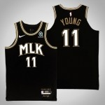 NBA Hawks #11 Trae Young Black 2021 Nike City Edition Swingman Jersey