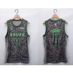 NBA Atlanta Hawks #11 Trae Young Grey 2020-21 Fashion NBA Jersey