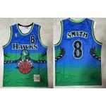 NBA Atlanta Hawks #8 Steve Smith Blue 1996-97 Hardwood Classics Jersey