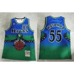 NBA Atlanta Hawks #55 Dikembe Mutombo Blue 1996-97 Hardwood Classics Jersey