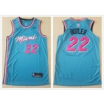 NBA Miami Heat #22 Jimmy Butler Light Blue 2019-20 City Edition Nike Swingman Jersey