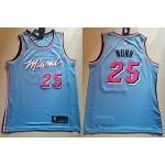 NBA Miami Heat #25 Kendrick Nunn Light Blue 2019-20 City Edition Nike Swingman Jersey