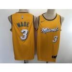 Heat #3 Dwyane Wade Yellow 2020 City Edition Nike Swingman Jersey