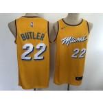 Heat #22 Jimmy Butler Yellow 2020 City Edition Nike Swingman Jersey