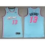 NBA Miami Heat #13 Bam Adebayo Blue 2019-20 City Edition Nike Swingman Jersey