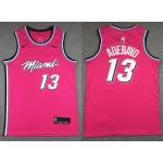 NBA Miami Heat #13 Bam Adebayo Pink 2019-20 City Edition Nike Swingman Jersey