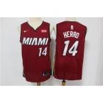 NBA Miami Heat #14 Tyler Herro Red Nike Swingman Jersey