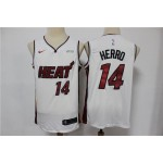 NBA Miami Heat #14 Tyler Herro White Nike Swingman Jersey