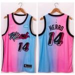 NBA Miami Heat #14 Tyler Herro Blue Pink Nike 2021 City Edition Swingman Jersey