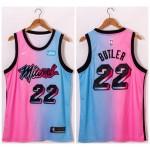 NBA Miami Heat #22 Jimmy Butler Blue Pink Nike 2021 City Edition Swingman Jersey
