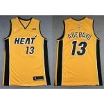 NBA Miami Heat #13 Bam Adebayo Yellow Swingman Earned Edition Jersey