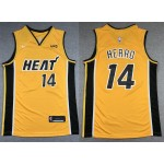 NBA Miami Heat #14 Tyler Herro Yellow Swingman Earned Edition Jersey