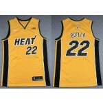 NBA Miami Heat #22 Jimmy Butler Yellow Swingman Earned Edition Jersey