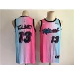 NBA Miami Heat #13 Adebayo Blue Pink Nike 2021 City Edition Swingman Jersey