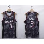 NBA Miami Heat #3 Dwyane Wade Black 2020-21 Fashion Jordan NBA Jersey
