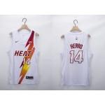 NBA Miami Heat #14 Tyler Herro White 2020-21 Fashion NBA Jersey