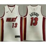 Men's Miami Heat #13 Bam Adebayo White 2020 Nike Swingman Stitched NBA Jersey