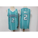 Men's Charlotte Hornets #2 LaMelo Ball Teal Icon Edition Swingman Jersey
