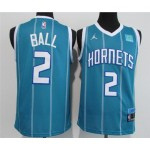 Charlotte Hornets #2 LaMelo Ball Blue 2020-21 City Edition Swingman Jersey