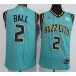 Charlotte Hornets #2 LaMelo Ball Teal 2020-21 City Edition Swingman Jersey