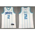 Charlotte Hornets #2 LaMelo Ball White 2020-21 Swingman Jersey