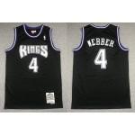 NBA Throwback Sacramento Kings #4 Chris Webber Black 1998-99 Hardwood Classics Jersey