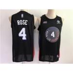 New York Knicks #4 Derrick Rose 2020-21 Black City Edition Swingman Jersey
