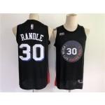 Men's New York Knicks #30 Randle Black City Edition 2021 NBA Jersey