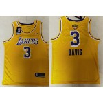 NBA Los Angeles Lakers #3 Anthony Davis Yellow 2020 Finals Bound Basketball KB Swingman Jersey