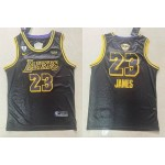 NBA Los Angeles Lakers #23 Lebron James Black City Edition 2020 Finals Bound Basketball Swingman Jersey