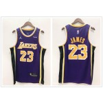 NBA Los Angeles Lakers #23 Lebron James Purple 2021 Nike Swingman Jersey