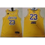 NBA Los Angeles Lakers #23 Lebron James Yellow 2020 Finals Bound Basketball KB Swingman Jersey