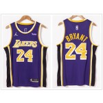 NBA Los Angeles Lakers #24 Kobe Bryant Purple 2021 Nike Swingman Jersey