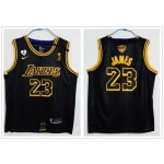 Lakers #23 Lebron James Black Mamba 2020 the Final Champions Nike Jersey