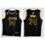 Lakers #24 Kobe Bryant Black Mamba 2020 the Final Champions Nike Jersey
