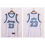 NBA Lakers #23 Lebron James White 2021 City Edition Nike Swingman Jersey
