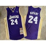 Lakers #24 Kobe Bryant Purple Hall Of Fame Memorial Edition Embroidered Jersey