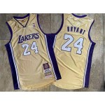 Lakers #24 Kobe Bryant Yellow Hall Of Fame Memorial Edition Embroidered Jersey