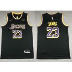 NBA Lakers #23 Lebron James black Swingman Earned Edition Jersey